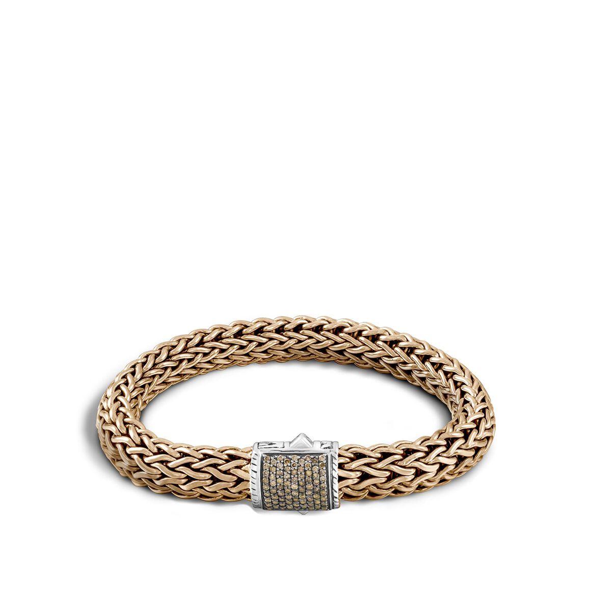 Classic Chain 10.5MM Bracelet, Silver, Bronze, Diamonds