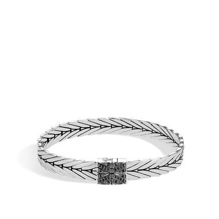 Modern Chain 8MM Bracelet in Silver with Gemstone