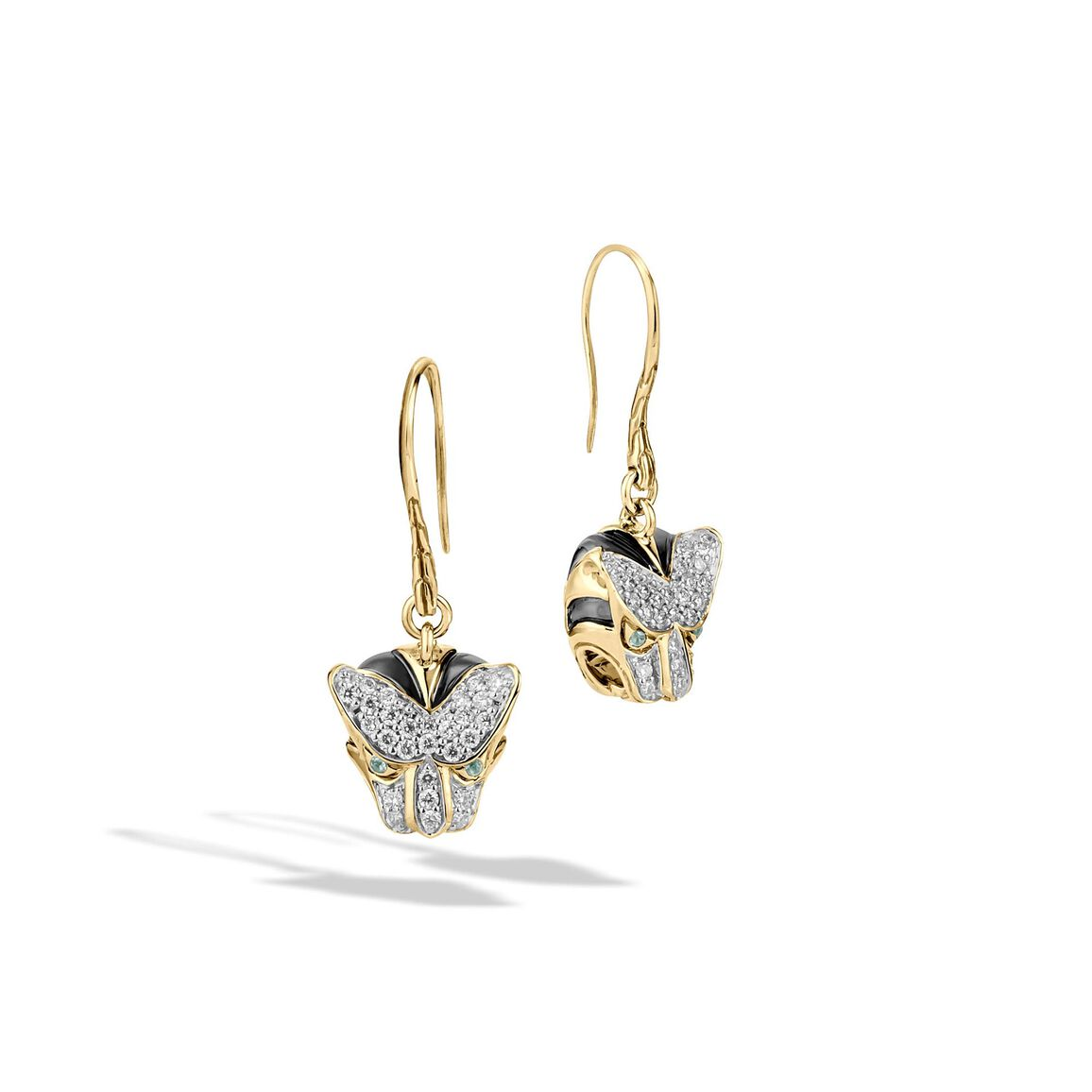 Legends Macan Drop Earring in 18K Gold with Diamonds