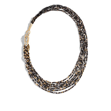 Legends Naga Bib Necklace 18K Gold with Gemstone, Diamonds