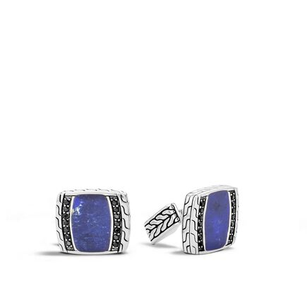 Classic Chain Cufflinks with Lapis