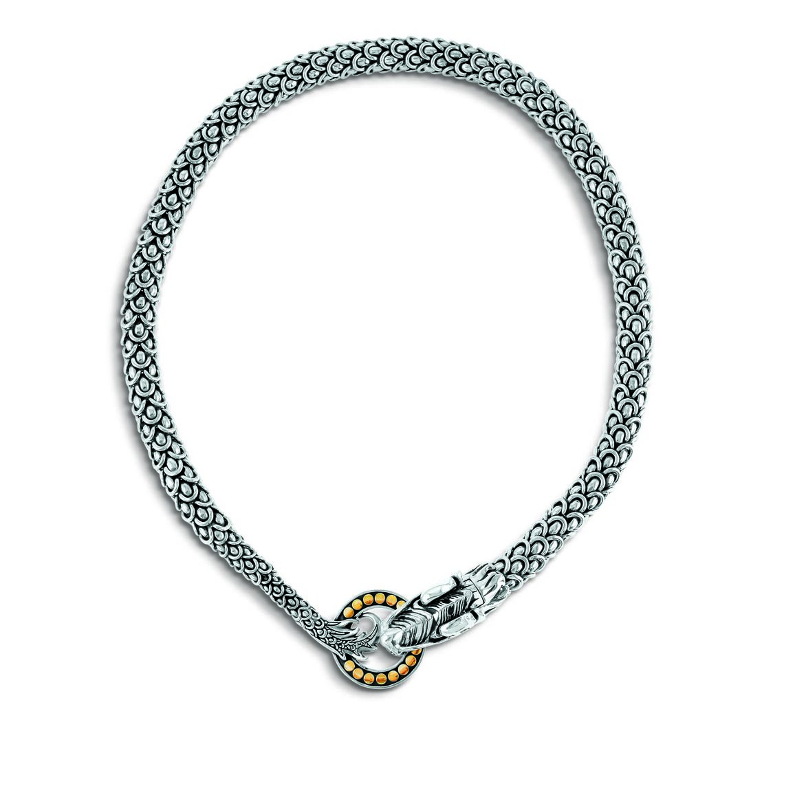 Legends Naga 11MM  Necklace in Silver and 18K Gold