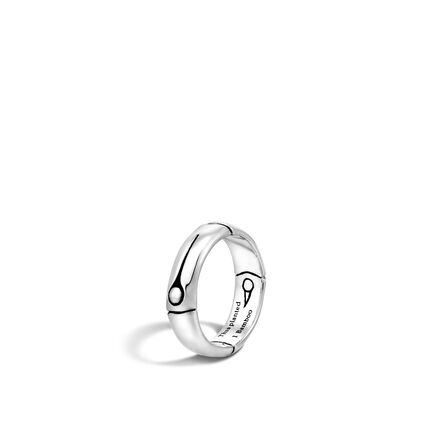 Bamboo 5MM Band Ring in Silver