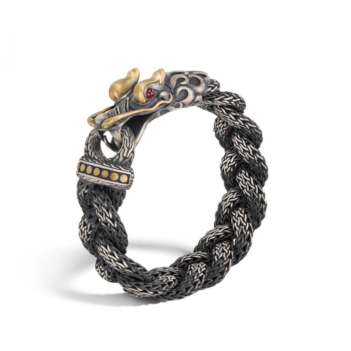 Legends Naga 18.5MM Station Bracelet in Silver and 18K Gold