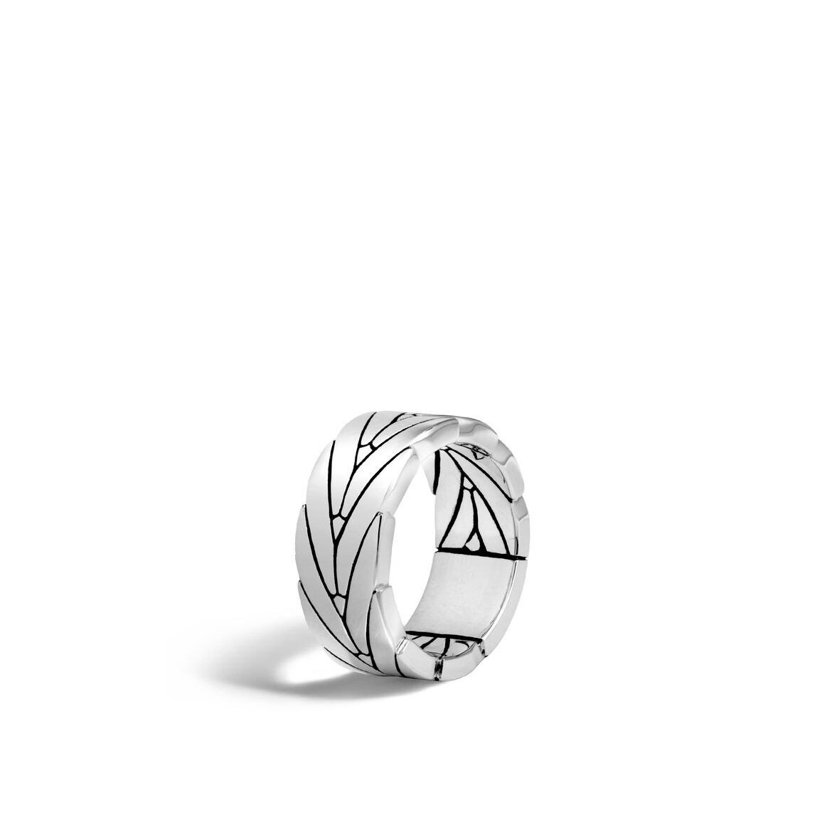 Modern Chain 8MM Band Ring in Silver