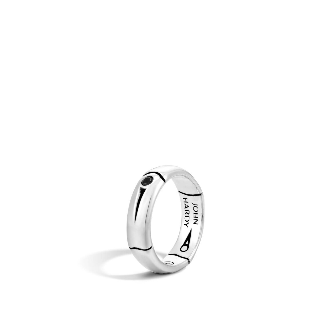 Band Ring with Black Sapphire