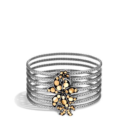 Dot Heritage Multi Row Bracelet, Silver and 18K Gold