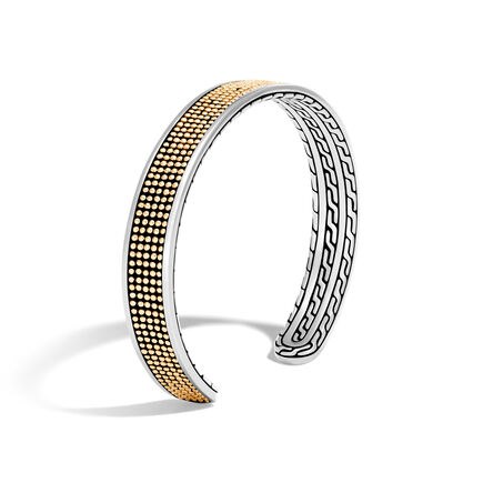 Chain Jawan 9MM Cuff in Silver and 18K Gold