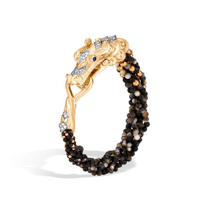 Legends Naga Multi Row Bracelet, 18K Gold, Gemstone and Dia