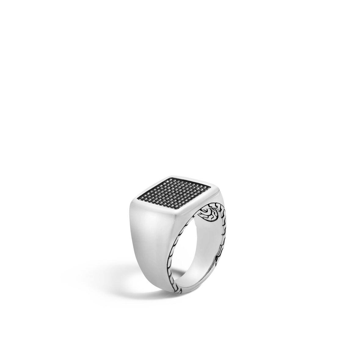 Chain Jawan Signet Ring in Silver