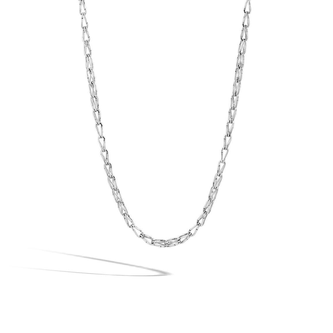 Bamboo 5MM Link Necklace in Silver
