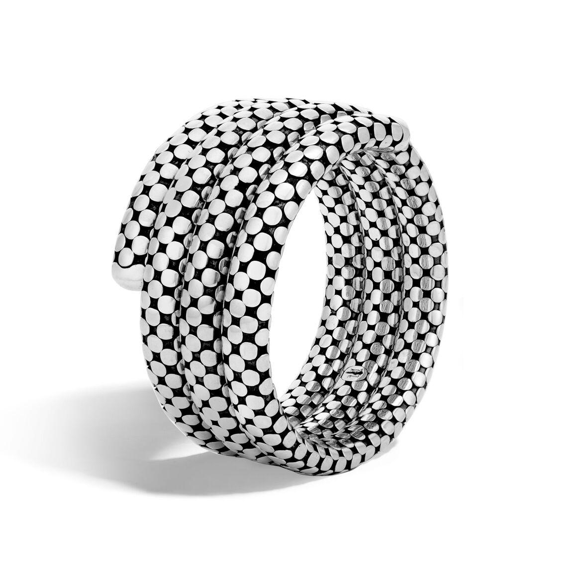 Dot Triple Coil Bracelet in Silver