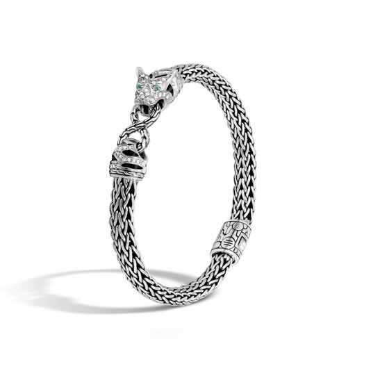 Legends Macan 6 5mm Station Bracelet In Silver With Diamonds