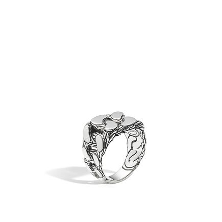 Classic Chain Signet Ring in Silver
