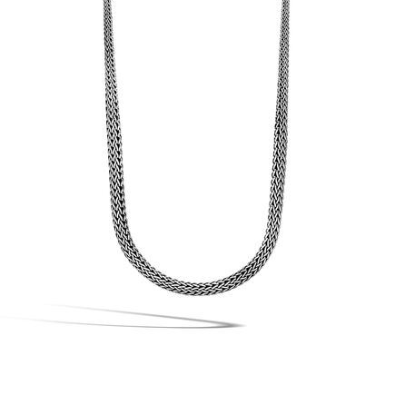Classic Chain 8.5MM Graduated Necklace in Silver