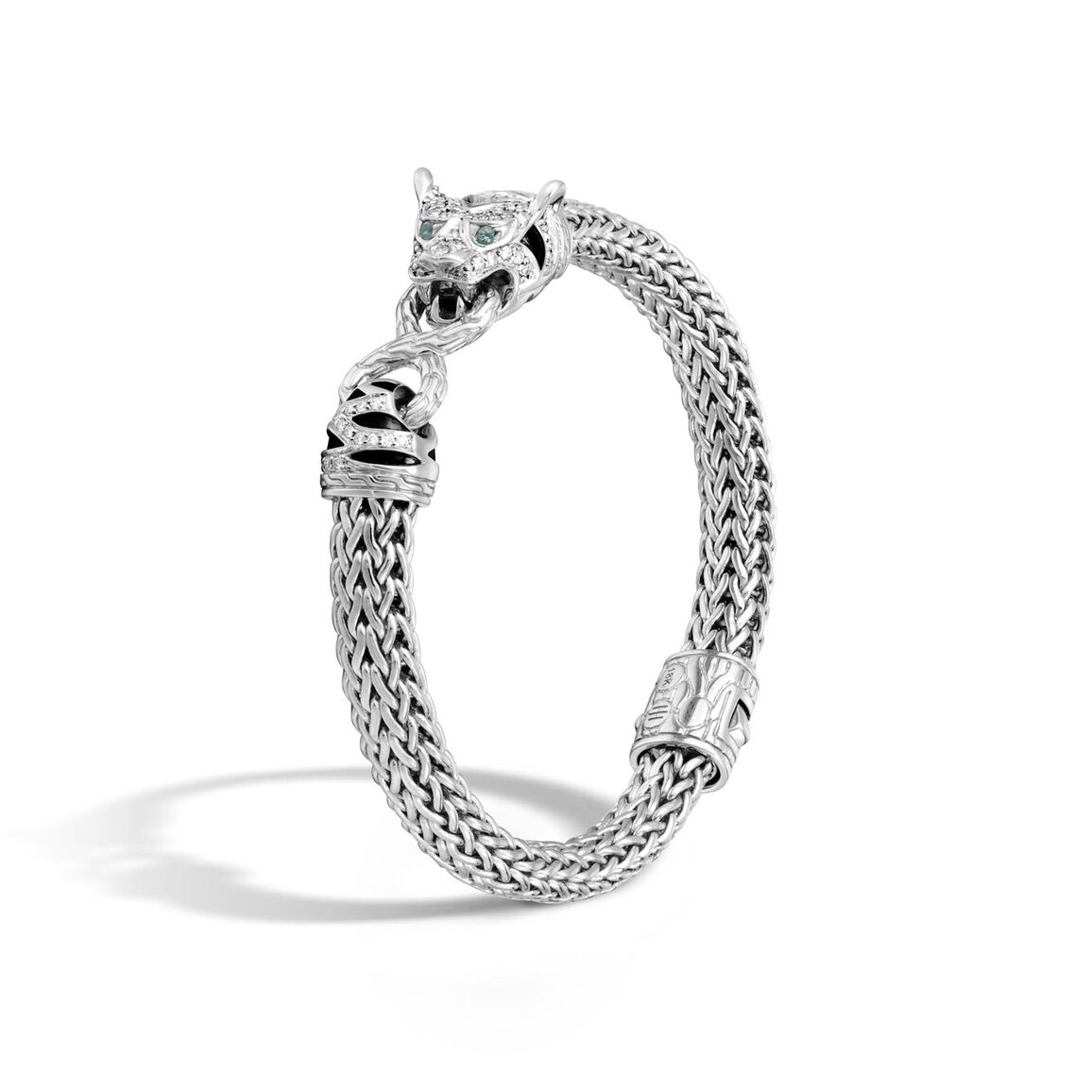 Legends Macan 7.5MM Station Bracelet in Silver with Diamonds