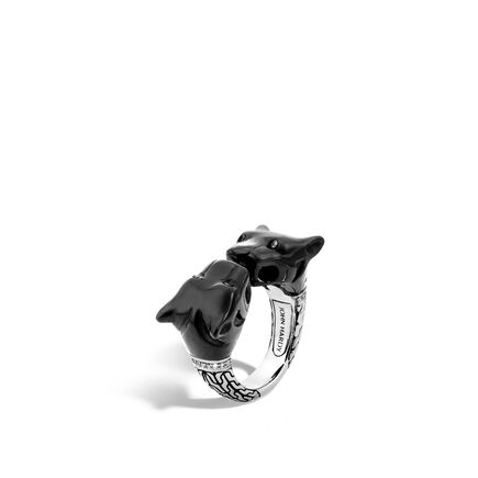 Legends Macan Ring in Silver with Gemstone and Diamonds
