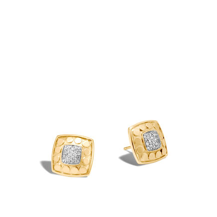 Dot Stud Earring in 18K Gold with Diamonds