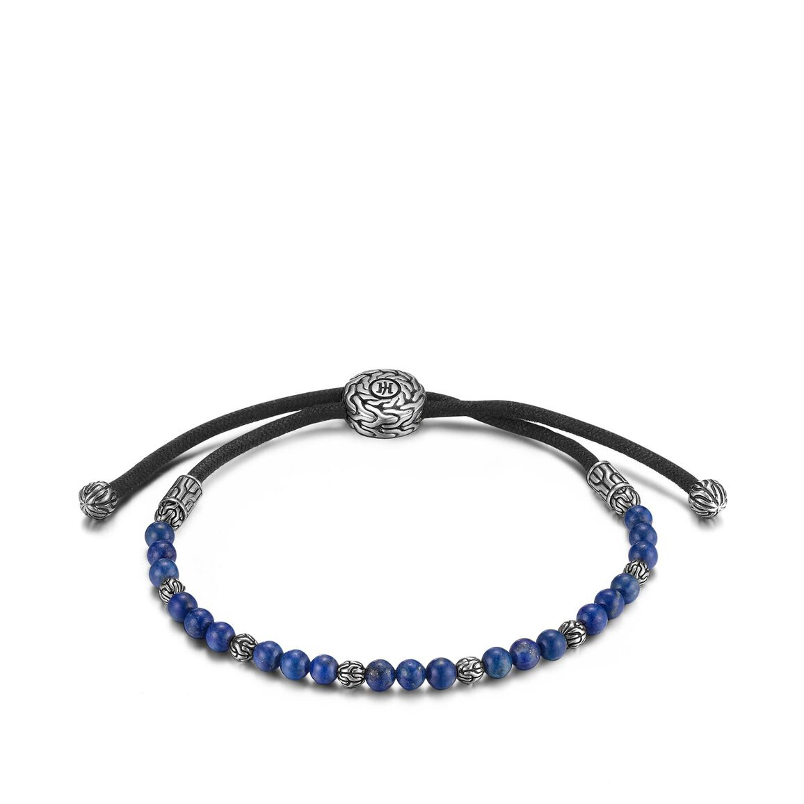 s classic chain bead bracelet in silver
