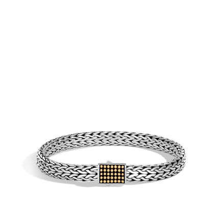 Chain Jawan 7.5MM Bracelet in Silver and 18K Gold