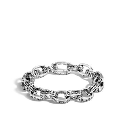 Classic Chain 13MM Link Bracelet in Silver