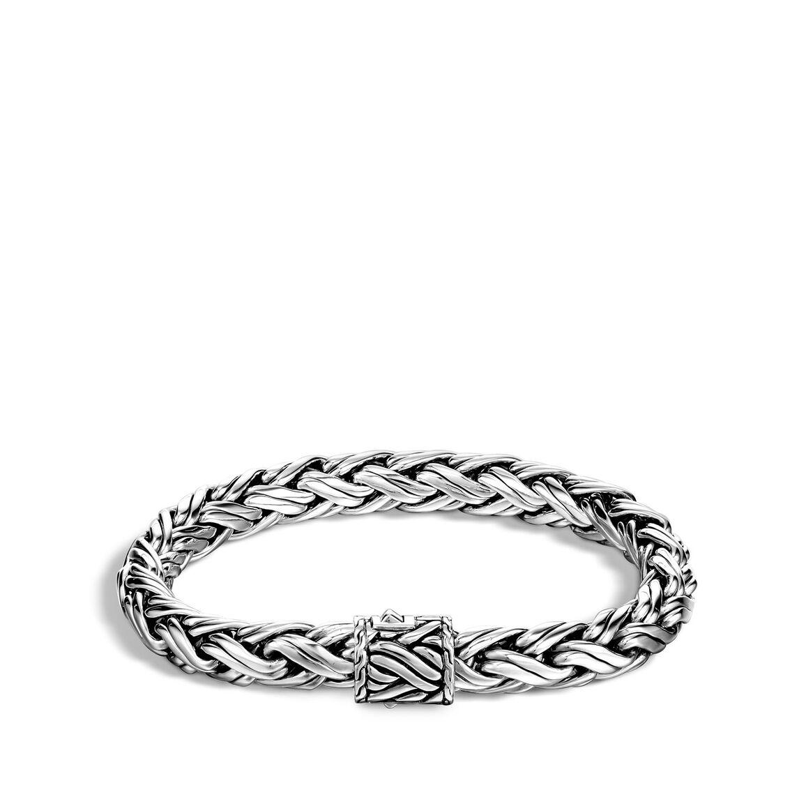 Classic Chain 7.5MM Woven Bracelet in Silver