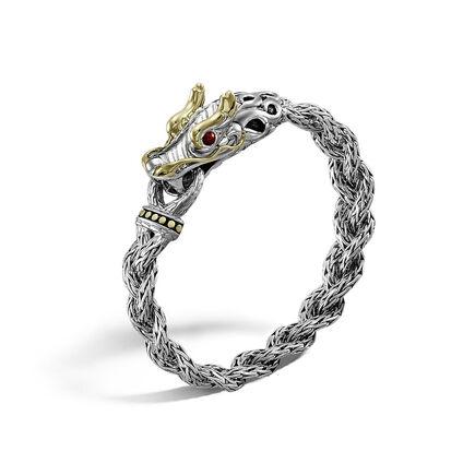Legends Naga 11MM Station Bracelet in Silver and 18K Gold