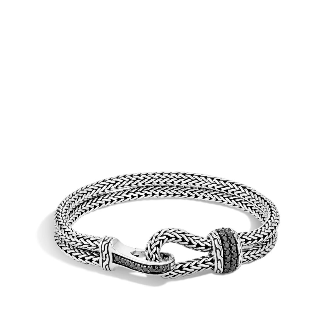 Classic Chain 8.5MM Bracelet in Silver with Gemstone
