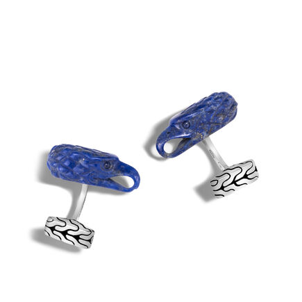 Legends Eagle Cufflinks in Silver with Gemstone