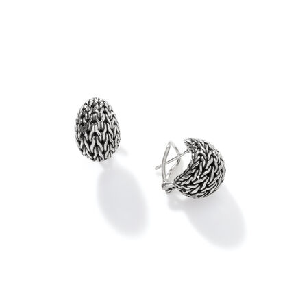Classic Chain Graduated Buddha Belly Earring in Silver