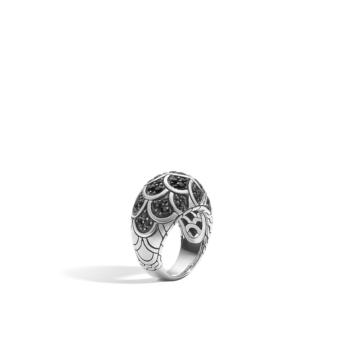 Legends Naga Dome Ring in Silver with Gemstone