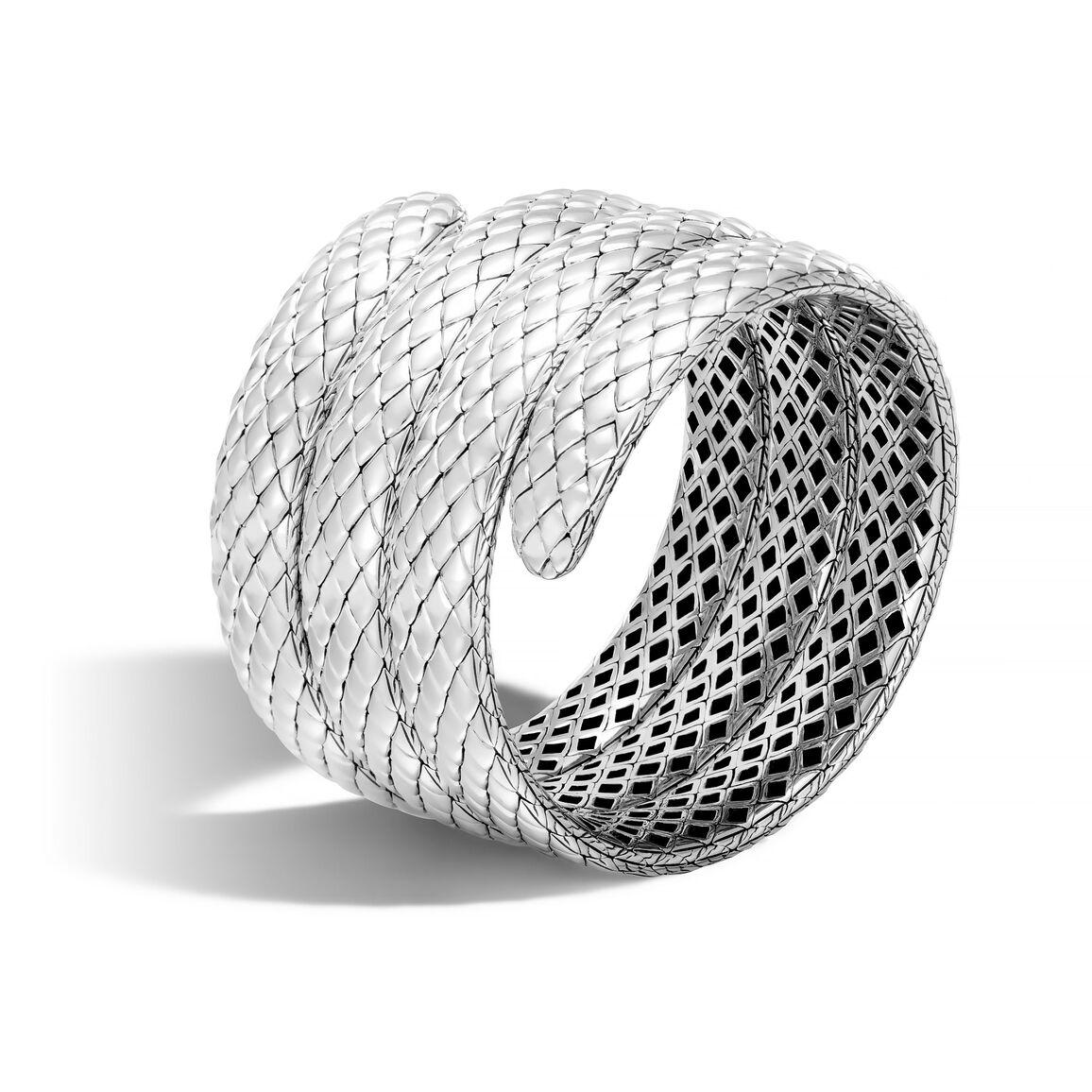 Legends Cobra Triple Coil Bracelet in Silver