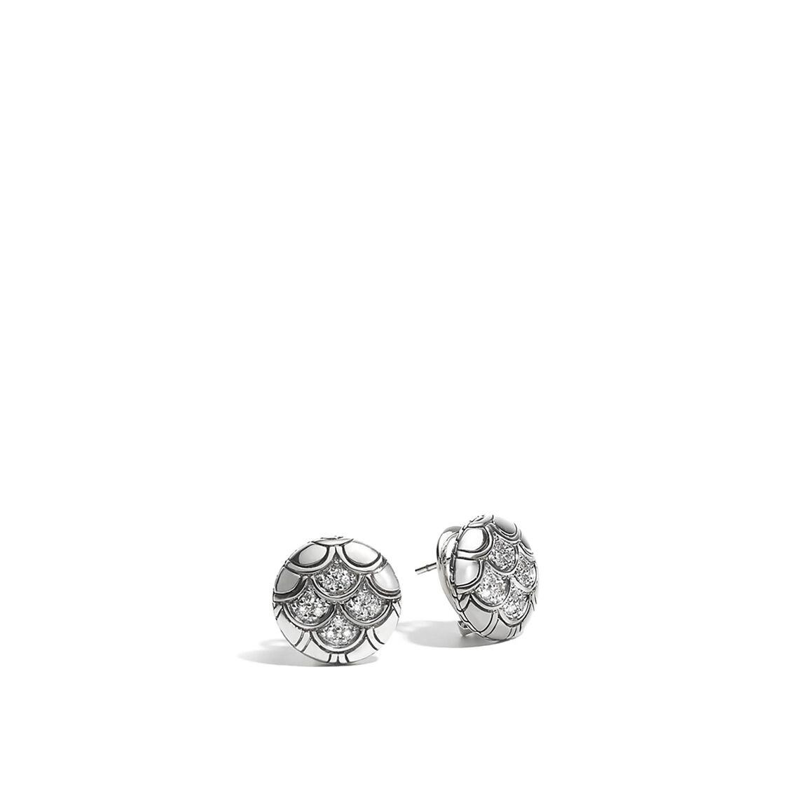 Legends Naga Button Earrings