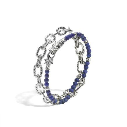 Legends Naga Wrap Bracelet in Silver with Gemstone