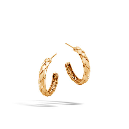 Legends Cobra Small Hoop Earring in 18K Gold
