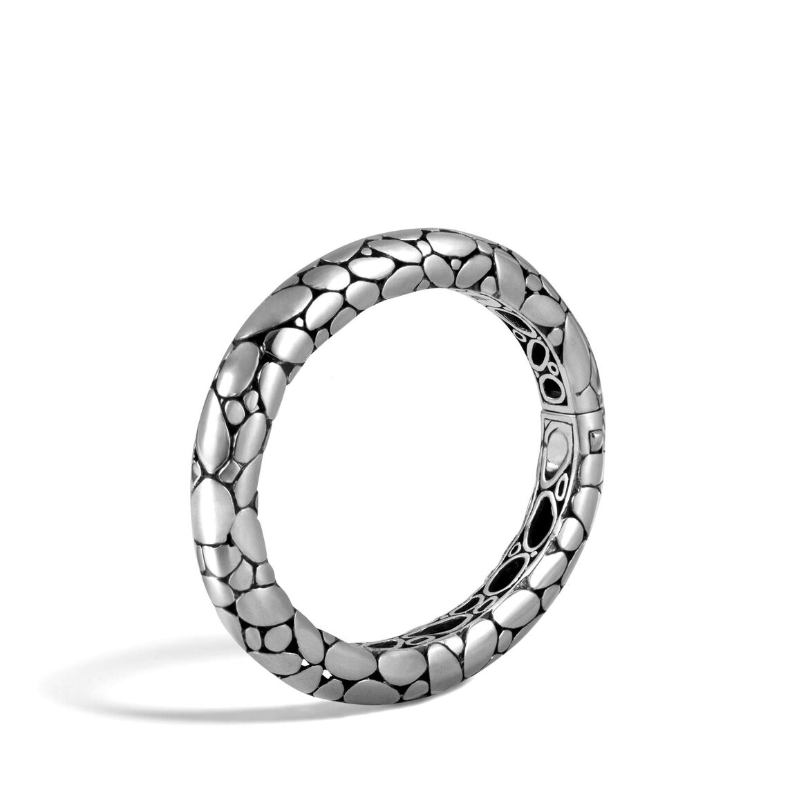 Kali 10MM Hinged Bangle in Silver
