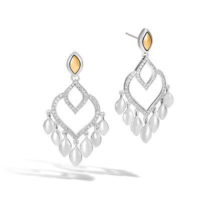 Legends Naga Chandelier Earring, Silver, 18K Gold , Diamonds
