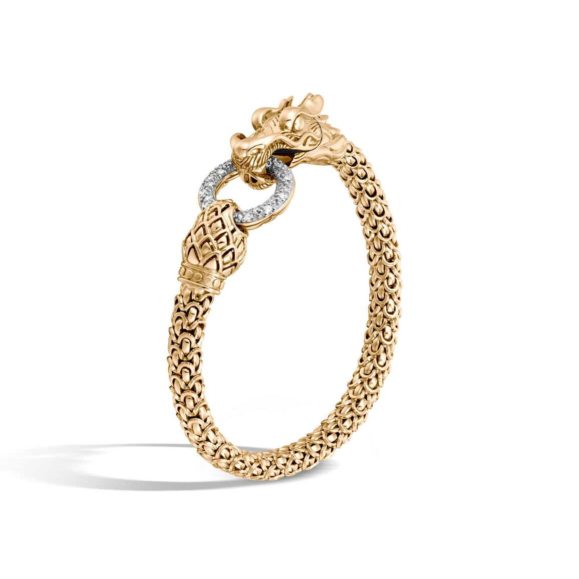 Legends Naga 6MM Station Bracelet in 18K Gold with Diamonds