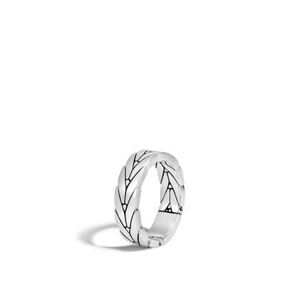 Modern Chain 6MM Band Ring in Silver