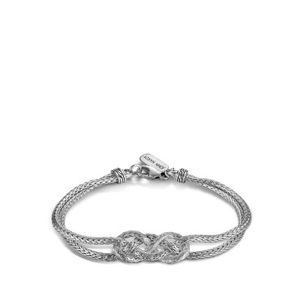 Classic Chain Love Knot Bracelet in Silver