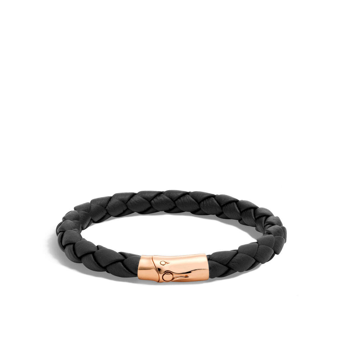 Bamboo 8MM Station Bracelet in Bronze and Leather