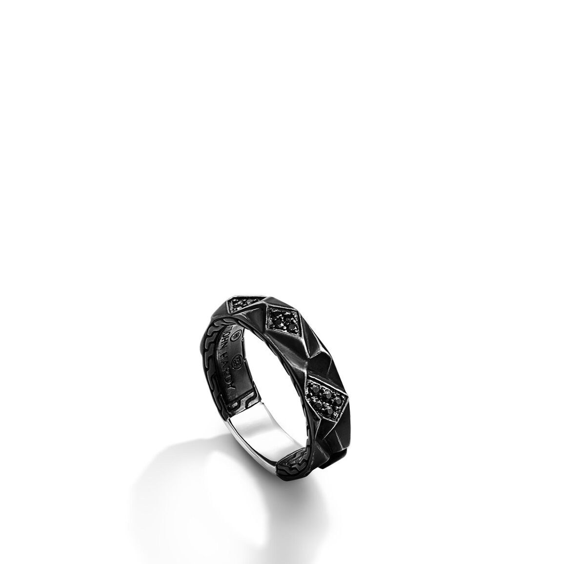 Slim Band Ring with Black Sapphire