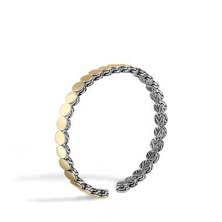 Dot 5.5MM Cuff in Silver and 18K Gold