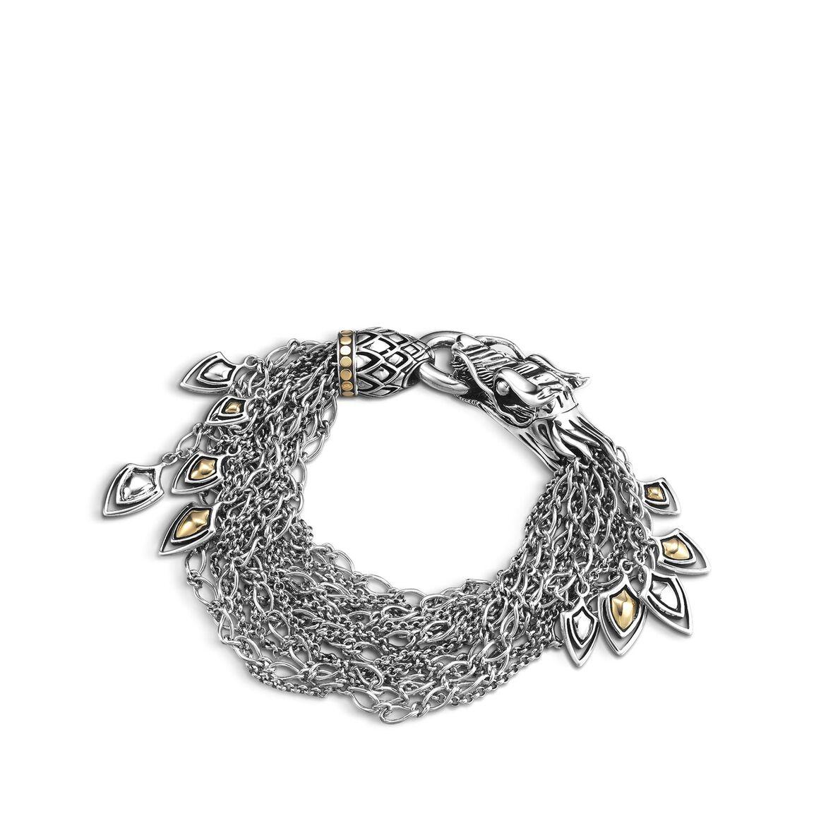 Legends Naga Multi Row Bracelet in Silver and 18K Gold