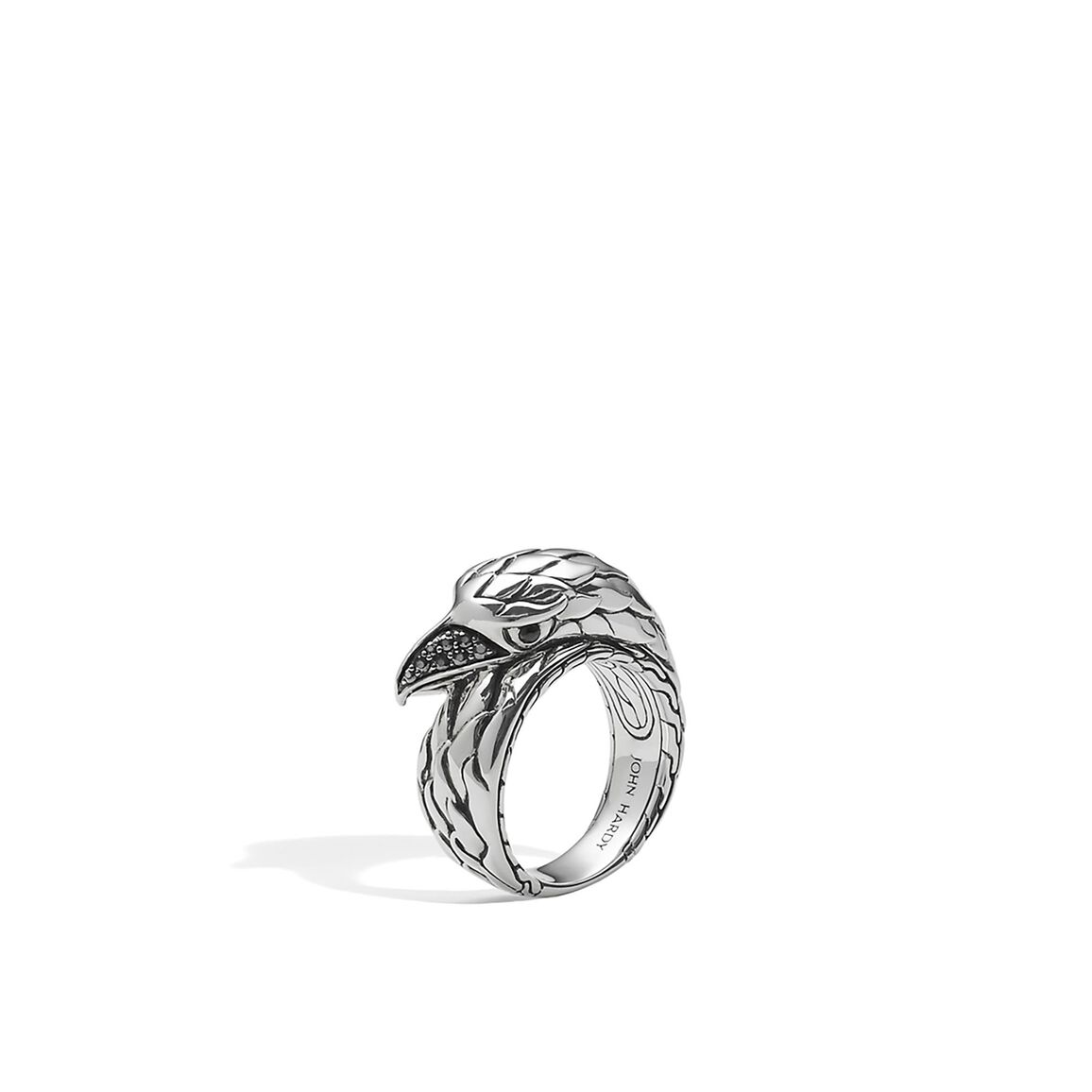 Legends Eagle Ring in Silver with Gemstone