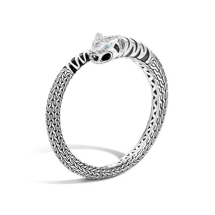 Legends Macan Kick Cuff in Silver with Diamonds