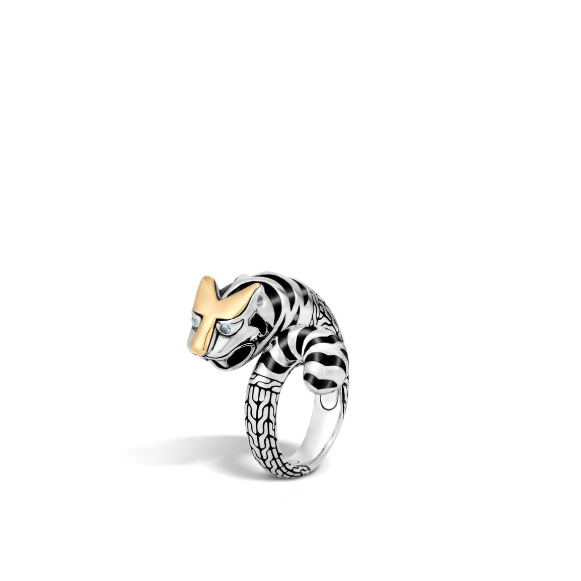 Legends Macan Bypass Ring in Silver and 18K Gold
