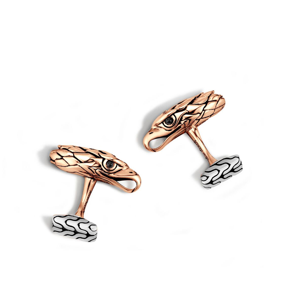 Legends Eagle Head Cufflinks in Silver and Bronze