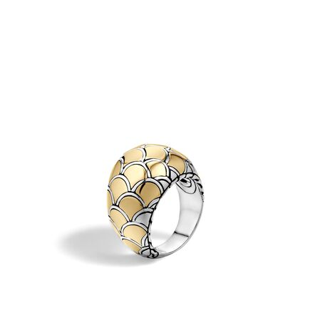 Legends Naga Dome Ring in Silver and 18K Gold