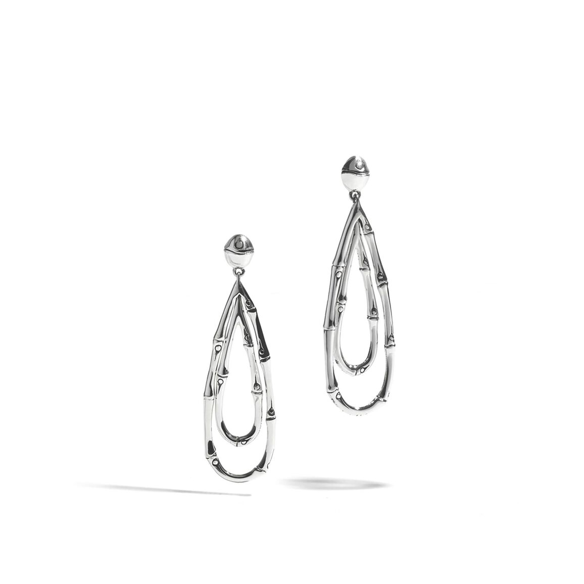Bamboo Drop Earring in Silver